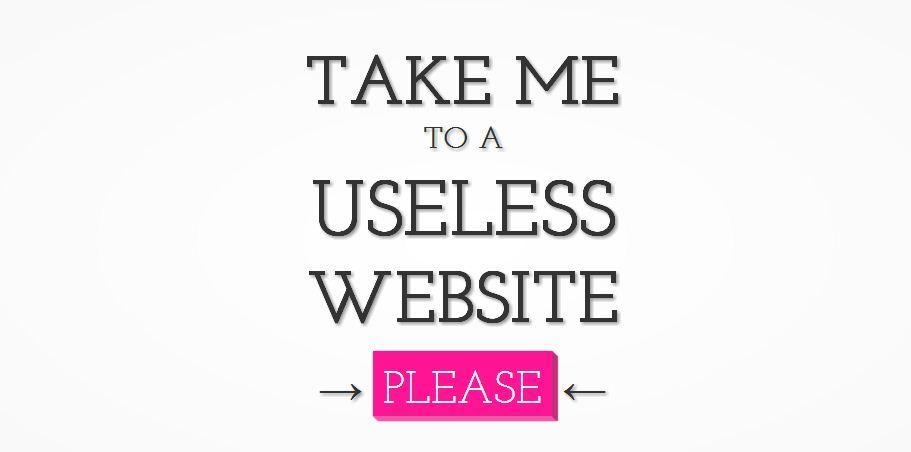 Useless Website Link