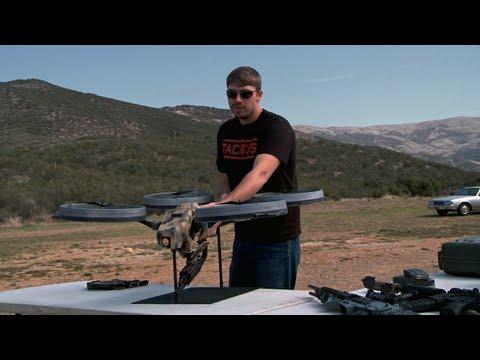 Prototype Quadrotor With Machine Gun! (fake but cool)