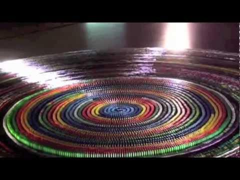 New Guinness World Record: Most Dominoes Toppled In A Spiral 30,000 Complete Toppling